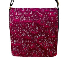 Glossy Abstract Pink Flap Messenger Bag (L)