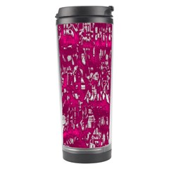 Glossy Abstract Pink Travel Tumbler