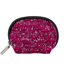 Glossy Abstract Pink Accessory Pouches (Small)
