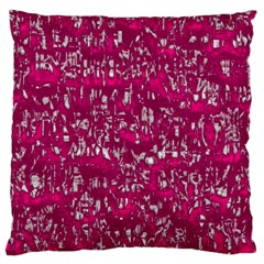 Glossy Abstract Pink Standard Flano Cushion Case (Two Sides)