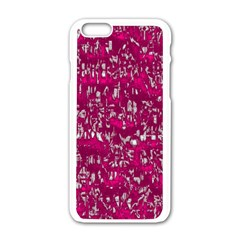 Glossy Abstract Pink Apple iPhone 6/6S White Enamel Case