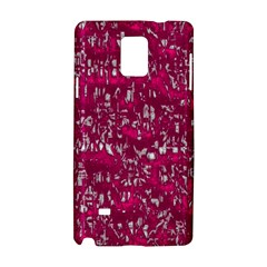 Glossy Abstract Pink Samsung Galaxy Note 4 Hardshell Case