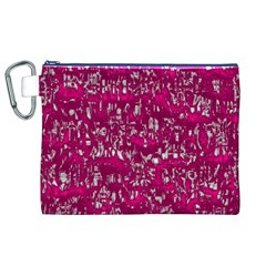 Glossy Abstract Pink Canvas Cosmetic Bag (XL)