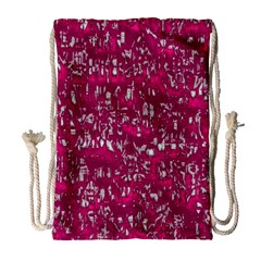 Glossy Abstract Pink Drawstring Bag (Large)
