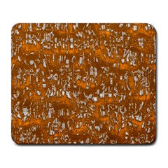 Glossy Abstract Orange Large Mousepads