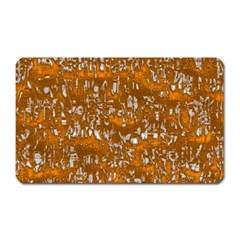Glossy Abstract Orange Magnet (Rectangular)