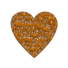Glossy Abstract Orange Heart Magnet