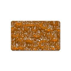 Glossy Abstract Orange Magnet (Name Card)