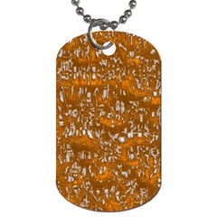 Glossy Abstract Orange Dog Tag (One Side)