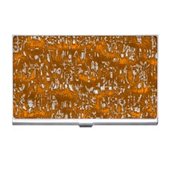 Glossy Abstract Orange Business Card Holders