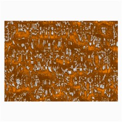 Glossy Abstract Orange Large Glasses Cloth (2-Side)