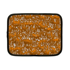 Glossy Abstract Orange Netbook Case (Small)