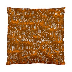 Glossy Abstract Orange Standard Cushion Case (One Side)