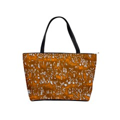 Glossy Abstract Orange Shoulder Handbags