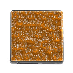 Glossy Abstract Orange Memory Card Reader (Square)