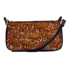 Glossy Abstract Orange Shoulder Clutch Bags