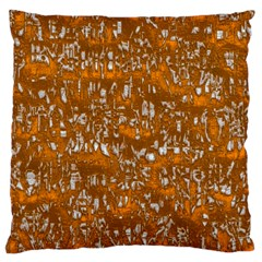 Glossy Abstract Orange Large Cushion Case (one Side)