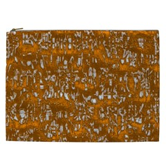 Glossy Abstract Orange Cosmetic Bag (XXL)