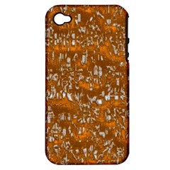 Glossy Abstract Orange Apple iPhone 4/4S Hardshell Case (PC+Silicone)