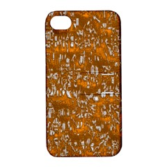 Glossy Abstract Orange Apple iPhone 4/4S Hardshell Case with Stand