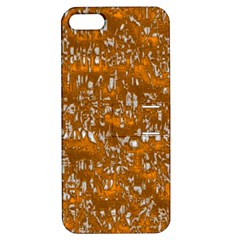 Glossy Abstract Orange Apple iPhone 5 Hardshell Case with Stand