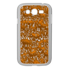 Glossy Abstract Orange Samsung Galaxy Grand DUOS I9082 Case (White)