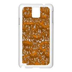 Glossy Abstract Orange Samsung Galaxy Note 3 N9005 Case (White)