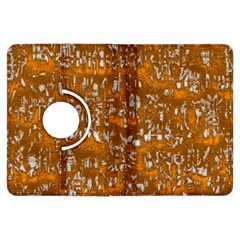 Glossy Abstract Orange Kindle Fire HDX Flip 360 Case