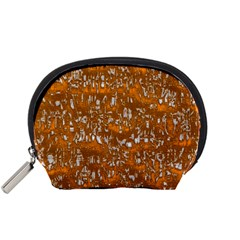 Glossy Abstract Orange Accessory Pouches (Small)