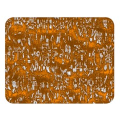 Glossy Abstract Orange Double Sided Flano Blanket (Large)