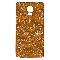 Glossy Abstract Orange Galaxy Note 4 Back Case