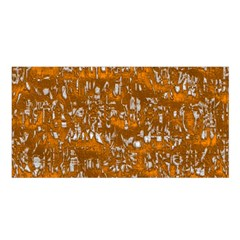 Glossy Abstract Orange Satin Shawl
