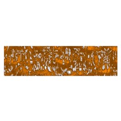 Glossy Abstract Orange Satin Scarf (Oblong)