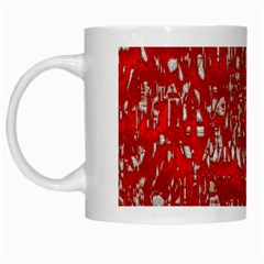Glossy Abstract Red White Mugs
