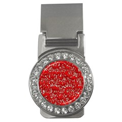 Glossy Abstract Red Money Clips (CZ)