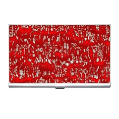 Glossy Abstract Red Business Card Holders
