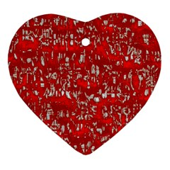 Glossy Abstract Red Heart Ornament (Two Sides)