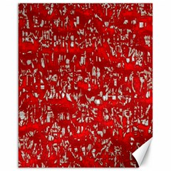 Glossy Abstract Red Canvas 16  x 20