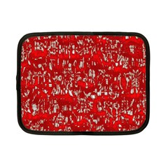 Glossy Abstract Red Netbook Case (Small)