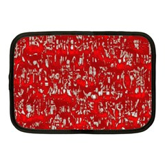 Glossy Abstract Red Netbook Case (Medium)