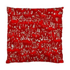 Glossy Abstract Red Standard Cushion Case (Two Sides)
