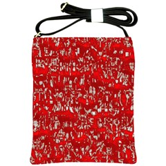 Glossy Abstract Red Shoulder Sling Bags
