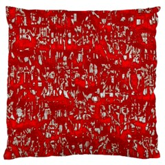 Glossy Abstract Red Large Cushion Case (One Side)