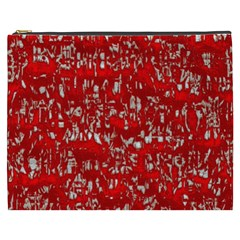 Glossy Abstract Red Cosmetic Bag (XXXL)