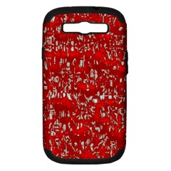 Glossy Abstract Red Samsung Galaxy S III Hardshell Case (PC+Silicone)
