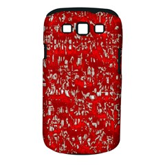 Glossy Abstract Red Samsung Galaxy S III Classic Hardshell Case (PC+Silicone)