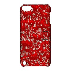 Glossy Abstract Red Apple Ipod Touch 5 Hardshell Case With Stand