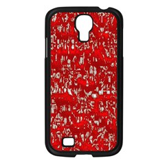 Glossy Abstract Red Samsung Galaxy S4 I9500/ I9505 Case (Black)