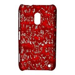 Glossy Abstract Red Nokia Lumia 620