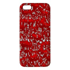Glossy Abstract Red iPhone 5S/ SE Premium Hardshell Case
